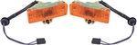 1968 - 1969 Nova Park Light Assemblies with Amber Lens, PAIR