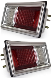 1968 - 1969 Complete Nova Tail Light Housing and Lens Assembly, PAIR