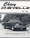 1964 - 1972 Chevelle Numbers and Codes, 102 pages, Covers casting numbers, suffix codes, transmission codes, rear axle codes, part numbers, production counts and more