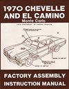 1970 Chevelle Factory Assembly Instruction Manual Book