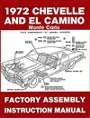 1972 Chevelle Factory Instruction Assembly Manual