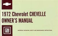 1972 Chevelle Glove Box Owners Manual