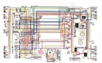 "1966 - 1972 Chevelle Wiring Diagram, Laminated, Color, 11"" x 17"""