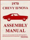1970 Nova Chevy II Factory Assembly Manuals.   A reprint of the actual factory instruction manual, Each