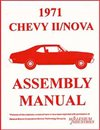 1971 Nova Chevy II Factory Assembly Manuals.   A reprint of the actual factory instruction manual, Each