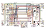 "1968 - 1972 Nova Wiring Diagram, Laminated, Color, 11"" x 17"""