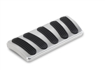 Lokar 1964 - 1972 Chevelle Brushed Billet Aluminum Curved Automatic Brake Pad with Rubber Inserts