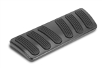 Lokar 1968 - 1972 Nova Black Billet Aluminum Curved Automatic Brake Pad with Rubber Inserts
