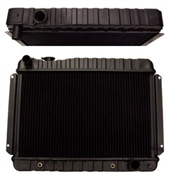 1966 - 1967 Chevelle Radiator, 4 Core with Automatic Transmission
