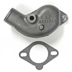 1965 - 1967 Cast Iron Thermostat Housing Water Neck, with Part # Stamping