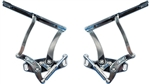 1965 - 1967 Chevelle Hood Hinges, Billet, Satin Finish, Pair