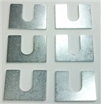 Front End Shims Set, 1/8 Inch Thick, 6 Pieces