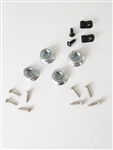 1970 - 1972 Chevelle Hood Hold Down Screws and Nuts (Cowl Hood) (10 Screws, 4 Nuts, and 2 Clips), Set