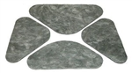 1968 - 1969 Chevelle Hood Insulation Pads, Set 4 Pieces