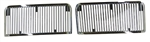 1968 - 1969 Chevelle Hood Louvers, Super Sport, Chrome, Pair