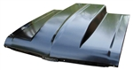 1968 - 1972 Nova Steel Cowl Induction Hood, 4 Inch Rise