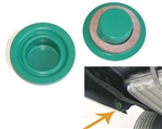 1968 - 1974 Nova Inner Rear Quarter Drop Off Extension Green Drain Plugs with Gasket, Pair