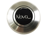 Custom Nova Horn Cap for Wood or Comfort Grip Steering Wheel, Choose Brushed or Black Finish