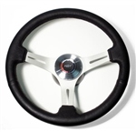1969 - 1972 Chevelle or Nova Steering Wheel Kit, Custom Black Leather