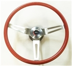 1967 - 1972 Chevelle and Nova RED Comfort Grip Steering Wheel Kit