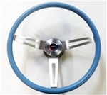 1967 - 1972 Chevelle and Nova BLUE Comfort Grip Steering Wheel Kit