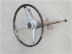 1967 Chevelle Steering Column with SS Steering Wheel, Original GM Used