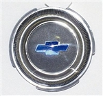 1967 Chevelle Steering Wheel Horn Cap Button Insert, Blue Bowtie