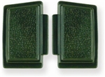 1969 - 1970 Nova Horn Buttons Set, Standard, Dark Green, Pair LH and RH