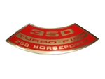 350 Turbo-Fire 250 Horsepower Air Cleaner Decal