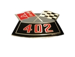 402 Crossed Flags Air Cleaner Breather Decal