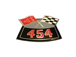 454 Crossed Flags Air Cleaner Breather Decal