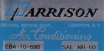1969 Chevelle or Nova Air Conditioning Evaporator Box, Harrison Decal