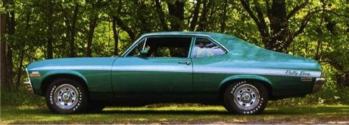 1971 1972 Nova Decal Stripe Set Rally Nova
