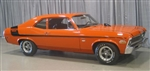 1970 Nova Yenko Deuce Decal Stripe Set, Black