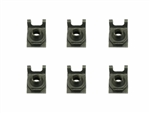 1968 - 1972 Nova Leaf Spring Mounting Cup Hardware Set, Rear Leaf Front Cup, J-Nuts, 6 Pieces