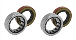 Rear End Axle Bearing and Seal Set, 10 or 12 Bolt, 2 Bearings and 2 Seals