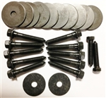 1966 - 1967 Chevelle Coupe Body Mount Bushing Hardware Set: Bolts, Nuts and Washers, OE Style Correct