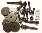 1968 - 1969 Chevelle Convertible Body Mount Bushing Hardware Set: Bolts, Nuts and Washers, OE Style Correct