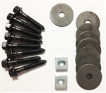 1970 - 1972 Chevelle Coupe Body Mount Bushing Hardware Set: Bolts, Nuts and Washers, OE Style Correct
