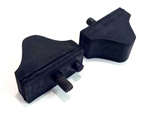 1968 - 1972 Nova Lower A-Arm Control Rubber Bumper Stopper Set, Pair
