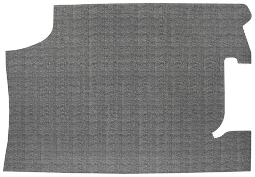 1966 Chevelle Trunk Mat Original Style Vinyl Rubber With Crowsfeet Crosshatch Pattern