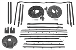 1966 - 1967 Chevelle Rubber Weatherstrip Kit, 2 Door Convertible Set