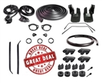 1970 - 1972 Chevelle Rubber Weatherstrip Kit, 2 Door Convertible Set