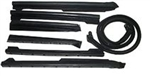 1968 - 1972 Chevelle Convertible Top Weatherstrip, 7 Piece Set