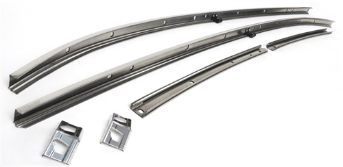 1968 chevelle stainless steel roof rail weatherstrip