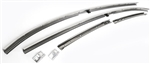 1969 Chevelle Stainless Steel Roof Rail Weatherstrip Channels Set
