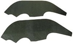 1968 Nova Inner Fender A Arm Flaps Seals, Pair
