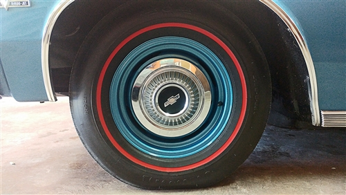 1966 Chevelle Dog Dish Hub Caps  4 Piece Set