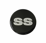 "Center Cap Sticker Decal with Silver ""SS"" Logo, 1 3/4 Inch"