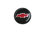 Center Cap Decal, Black with Red Bowtie, 1 3/4 Inches, Each